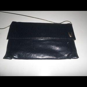 Vintage Shirl Miller Black Leather Crossbody Bag